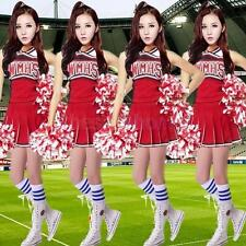 MagiDeal Girls Cheerleader Top& Skirt School Girl Dress Up Carnival Party Outfit