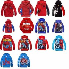 Kids Boys Girls McQueen SpiderMan Cartoon Sweater Toddlers Hoodie Age 2-8 Years