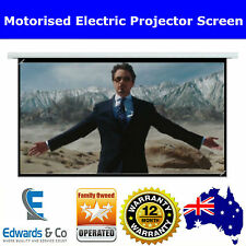 Electric Motorized Projector Screen HD Display Home Cinema Television DVD 3D