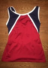 Motionwear Red Navy White Cheerleading Dance Cheer TOP Shirt 3550 Adult M L