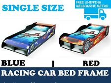 RED/BLUE Racing F1 Sports Car BED FRAME | Kids Boys Children Storage SINGLE Size
