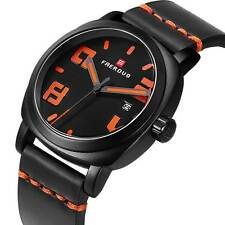 Luxury Casual Date Sport Analog Stainless Men's Quartz Wrist Watch Rubber Band
