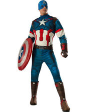 Avengers Age Of Ultron Captain America Deluxe Mens Costume Size XL