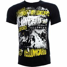 """NEW AND OFFICIAL YELLOWCARD """"Collage"""" BLACK UNISEX T-SHIRT"""