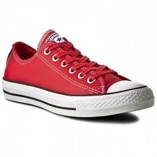 Converse Chuck Taylor All Star Mens Red White Leather New in Box 153816C
