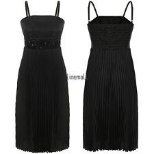New Women Sexy Sequins Spaghetti Strap Cocktail Strapless Pleated Dress LM02