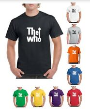 THE WHO BAND T-SHIRT BLACK MUSIC ROCK SIZES COTTON (S-2XL)