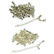 12 Clasp Clip End Caps Set Necklace Bag Charms Lobster Clasp Extender Chain 5mm