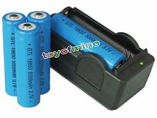 4x 18650 3.7V 5000mAh GTL Li-ion Rechargeable Battery for Torch + 18650 Charger