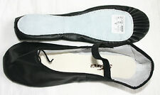 ADULT BLACK LEATHER FULL SOLE BALLET SHOES-SO DANCA BAE90- SIZE 9L - BRAND NEW