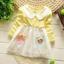 Newborn Baby Clothing Toddler Girl Cotton Dresses Infant Girl Cute Pocket Dress