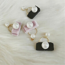 Stud Earrings Pearl Pearl Earring 1Pair Cute Earrings For Women Velvet Design