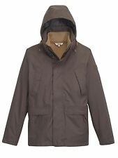 Aigle Mens Woodrow Waterproof 3-in-1 Jacket in Cacao - Sizes, M, L & XL