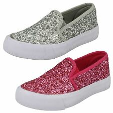 Girls Spot On Glitter Fashion Pumps H2325