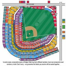 4 Tickets LOWER sec 223 Chicago Cubs vs. Reds HARD COPY 9/30/17 Wrigley Field