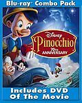 Pinocchio (Blu-ray/DVD, 2009, 3-Disc Set, 70th Anniversary Platinum Edition) NEW