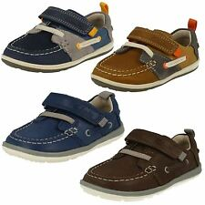 Infant Boys Clarks Softly Boat First Shoes