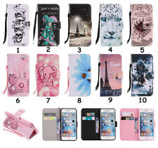 Patterned PU Leather Flip Wallet Protective Stand Case Cover Skin For Samsung