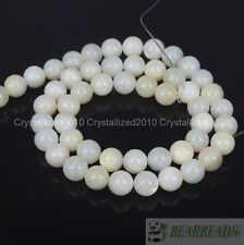 Natural White Mother Of Pearl MOP Shell Round Beads 4mm 6mm 8mm 10m 12mm 16''