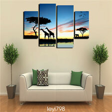 HD Print on Canvas Painting Home Decoration Wall Art Sunset scenery 4PCS