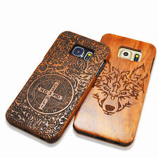 100% Natural Wooden Wood Bamboo Phone Back Case Shell For iPhone Samsung Cover