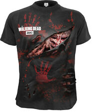 Spiral Zombie - All Infected, Walking Dead Ripped T-Shirt Black Blood