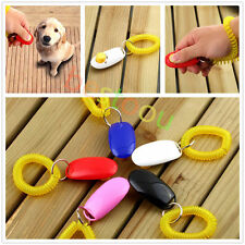 Dog&Cat Pet Click Clicker Training Obedience Agility Trainer Aid Wrist Strap OI