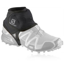 Salomon Black Mens Womens Sport Training  Running Trail Ankle Shoe Gaiter
