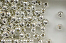 925 Sterling Silver 10mm Seamless Round Spacer Beads, Choice of Lot Size & Price