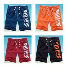 Men's Pants Beach Board Casual Polyester Drying Mens Elastic Waist Cargo Shorts