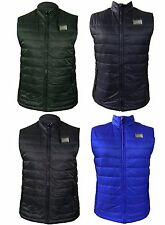 Mens Quilted Sleeveless Bodywarmer Down Feather Puffer Bomber Gilet Jacket