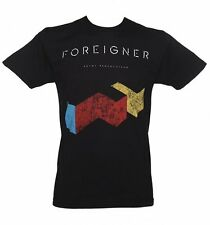 Official Men's Black Foreigner T-Shirt from Goodie Two Sleeves
