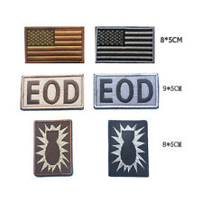 USA American Flag Eod Tactical  Embroidered Patches Tactical Badges