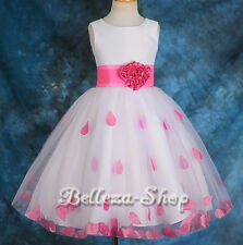 Petals Flower Girl Wedding Pageant Party Formal Occasion Dress Size 18m-6 FG142