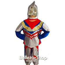 Ultraman Hero Tiga Boy Kid Halloween Party Costume Mask Outfit Size 2T-7 FC019