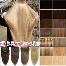 Premium 5A 7-8 Pieces Clip In Real Good Remy Human Hair Extension Full Head U839