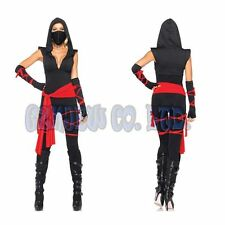 Adult Womens Sexy Mask Ninja Cosplay Costumes Halloween NINJA Fancy Dress Outfit
