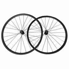 700C 24mm Clincer Carbon Wheels Bike Bicycle Disc Brake Hubs Cyclocross Wheelset