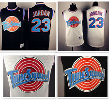 Space Jam Tune Squad Basketball Jersey Michael Jordan #23 Black White S-XXL