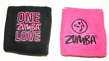"ZUMBA SWEATBAND / WRISTBAND - ""ZUMBA LOVE""  - BLACK or PINK -  BRAND NEW"