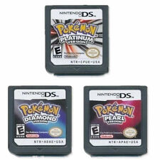 3Pcs Nintendo Pokemon Platinum/Pearl/Diamond Version Game Cards For 3DS DSI NDS