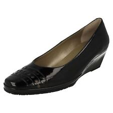 LADIES VAN DAL LEATHER SLIP ON WEDGE HEELED COURT SHOES PACIFICA