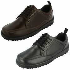 MENS HUSH PUPPIES LEATHER LACE UP WIDE FITTING SHOES BELFAST OXFORD