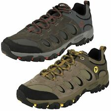 MENS MERRELL RIDGEPASS BOLT LEATHER LACE UP WALKING HIKING TRAINERS SHOES