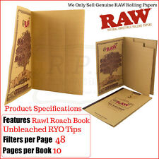 Raw The Rawl Classic Filter Tips Book - 480 Tips Per Book - 1/2 & 3 Roach Books
