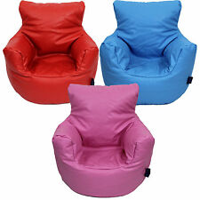 Small Faux Leather Childrens Bean Bag Chair Three Colours Free UK Delivery