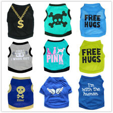 8PCS Lot Wholesale Bog Dog Shirt 100% Cotton Girl Dog Vest Pet Puppy Clothes New