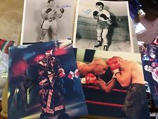 Various Signed Boxing Photos (B). Champs & Challengers 10x8, 12x8 COA