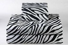 6 PCs Sheet Set Egyptian Cotton 1000 TC Pocket Drop 35 Cm Zebra Print