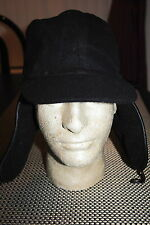 JOHN VARVATOS MENS LEATHER TRIM TRAPPER VISOR HAT BLACK S/M & L/XL RP $95.00 NWT